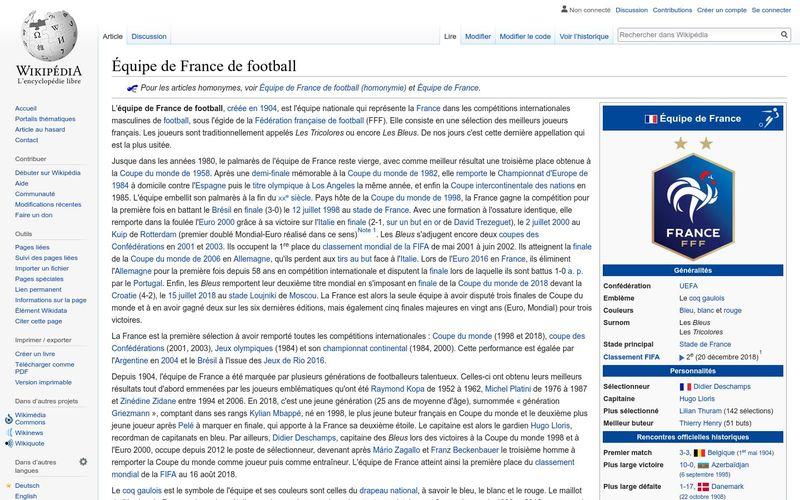 L'équipe de France de football, une fierté nationale